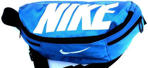 Удобная спортивная сумка на пояс Nike Team Training 141, синий
