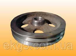 Шкив компрессора ВВ-0.8/8-720 двухручьевой(Шкив ВВ-0.7-8.00.002В)