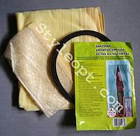 Антимоскитная сетка на магнитах в дверной проем бежевая  90*210 см