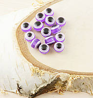 Бусина турецкий глаз пластик 8 мм фиолетовая (товар при заказе от 200 грн)