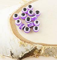 Бусина турецкий глаз пластик 8 мм фиолетовая