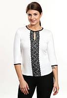 Чиара блузка белая рукав три четверти