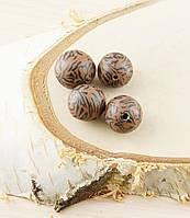 Бусина из полимерной глины 20мм коричнево-черная (товар при заказе от 200 грн)