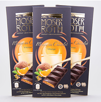 Черный шоколад Moser Roth Mousse au Chocolat Orange с апельсином, 187,5 г