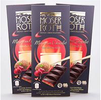 Черный шоколад  вишня/перчик чилли Moser Roth Mousse au Chocolat Cherry Chilli, 187,5 г, фото 1