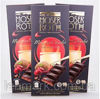 Черный шоколад  вишня/перчик чилли Moser Roth Mousse au Chocolat Cherry Chilli, 187,5 г