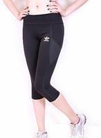 Бриджи для фитнеса Adidas черные