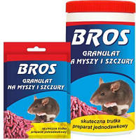 """Гранулы от мышей и крыс """"Bros"""" 90 г"""