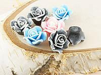 Бусина из полимерной глины роза 22мм (товар при заказе от 200 грн)