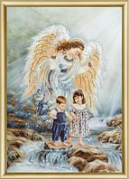 Набор для рисования стразами Ангел и дети КС-038