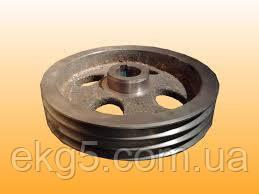 Шкив компрессора ВВ-0.8/8-720 трехручьевой(Шкив ВВ-0.7-8.00.002А)