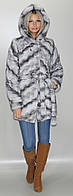 Шубка женская ниже бедра из искусственного меха, серая (в розницу +150грн)