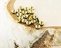 Бусина разделитель со стразами золото (10шт) 8мм