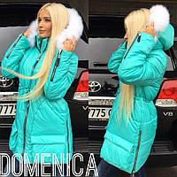 Стильная и теплая женская зимняя куртка в разных расцветках k-3101107
