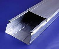 Кабель-канал неперфорированный метал., 80х80х3000мм