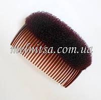 Гребешок с накладкой, 10,5 см, цвет коричневый