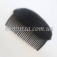 Гребешок с накладкой, 10,5 см, цвет черный