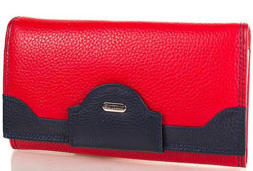 Женский удобный кожаный кошелек CANPELLINI (КАНПЕЛЛИНИ) SHI2033-172 Красный
