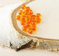 Бусина рондель стекло оранжевый (10шт) 8мм