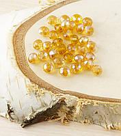 Бусина рондель стекло  золотистый (10шт) 6мм (товар при заказе от 500грн)