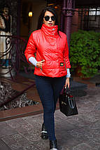 """Короткая женская демисезонная куртка """"Colly"""" c воротником стойкой (большие размеры), фото 2"""