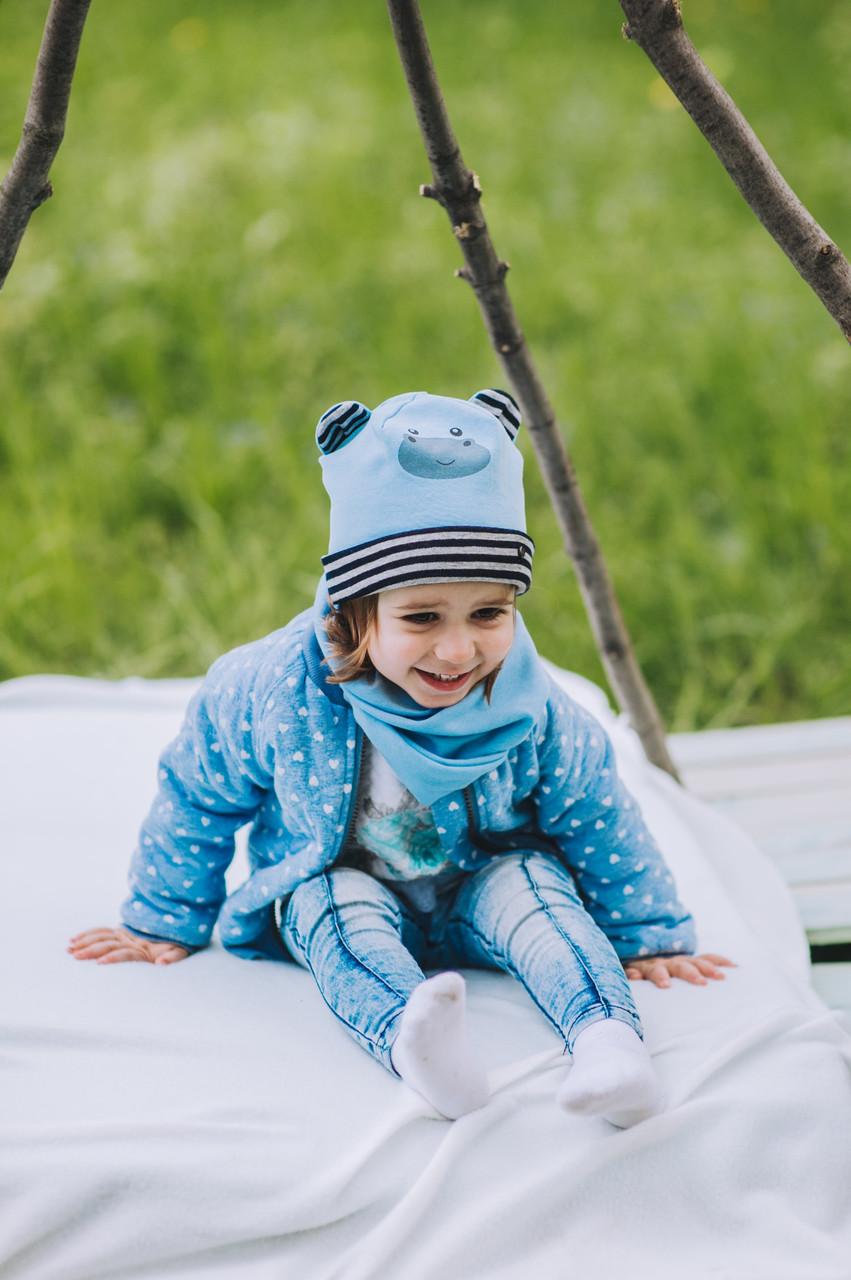 Детская шапка (набор) БИНКС оптом размер 44-46-48