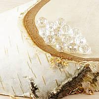 Бусина рондель стекло прозрачный (10шт) 3мм (товар при заказе от 200 грн)