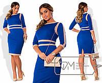 Деловое платье больших размеров р-202331