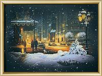 Набор для рисования стразами Огни зимнего города КС-156