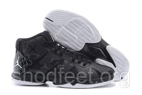 Мужские кроссовки Jordan Super Fly 4 black\white\grey