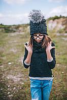 Детская шапка (набор) ДЖОРДЖИЯ для подростков оптом р. 52-54