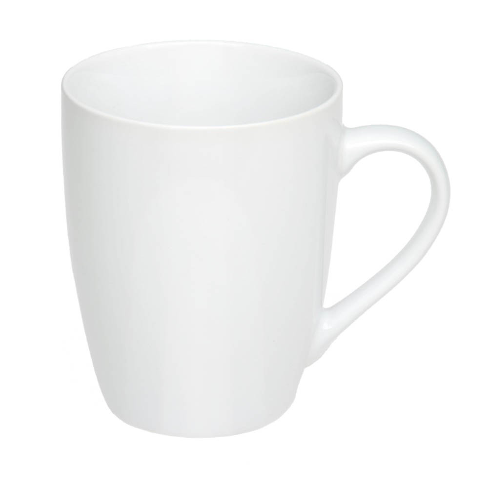 Чашка керамическая 'Квин', 350мл, цвет Белый