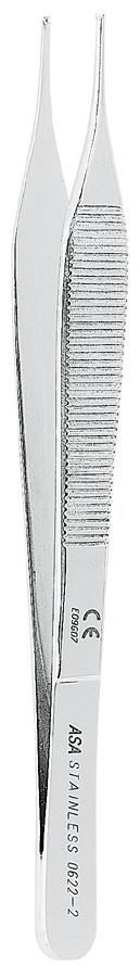 Пинцет хирургический прямой 1X2 MICRO-ADSON 15 см Asa Dental (Италия) NaviStom