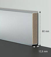Плинтус МДФ для офиса Cubu flex 60mm серебро