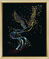 Набор для рисования стразами Птица счастья КС-021