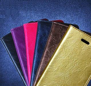 """Nokia Lumia 730 735 чехол книжка ИЗ НАТУРАЛЬНОЙ ТЕЛЯЧЕЙ КОЖИ мраморный кожаный для телефона """"DALARA"""""""