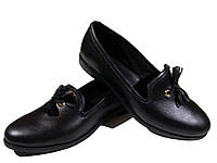 Туфли женские комфорт натуральная кожа черные на резинке (207), фото 1