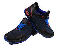 Кроссовки синие натуральная кожа на шнуровке (М), фото 1