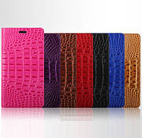 """Nokia Lumia 640 чехол книжка ИЗ НАТУРАЛЬНОЙ ТЕЛЯЧЕЙ КОЖИ 3D РЕЛЬЕФ кожаный для телефона """"ZENS CROCO"""""""