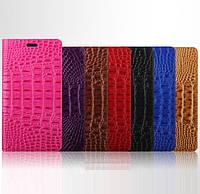 """Nokia Lumia 830 чехол книжка ИЗ НАТУРАЛЬНОЙ ТЕЛЯЧЕЙ КОЖИ 3D РЕЛЬЕФ кожаный для телефона """"ZENS CROCO"""""""