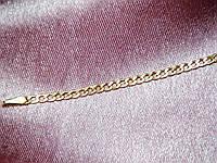 Браслет золотой 585 пробы плетение Гурмет 17.0 см.