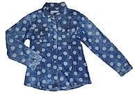 Джинсовые рубашки для девочек оптом, Seagull , 134-164 рр.,  Арт. CSQ-89068