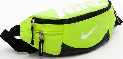 Удобная спортивная сумка на пояс Nike Team Training 145, салатовая