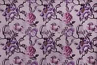 Мебельная ткань Камелия грей  фиолет (производство Мебтекс)