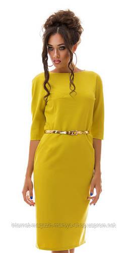 Платье женское однотонное
