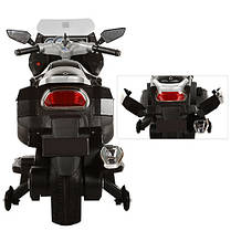 Детский Мотоцикл BMW М 3208 черный, заводится ключом, плавный старт, колеса мягкие EVA, мягкое сиденье, фото 3