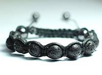 Кожаный мужской браслет из Лавы shamballa