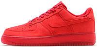 Мужские кроссовки Nike Air Force 1 Low Red, красные, найк, аир форс, форсы, низкие