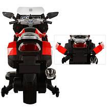 Детский Мотоцикл BMW М 3208 красный, заводится ключом, плавный старт, колеса мягкие EVA, мягкое сиденье, фото 3