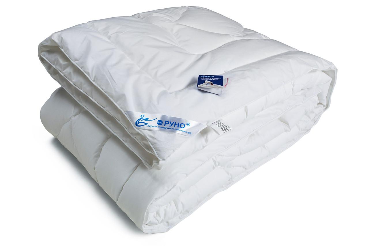 Одеяло Руно полуторное искусственный Лебединый Пух 140x205 Хлопок Тик 420г/м2 (321.139ЛПУ)